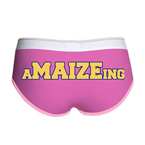 CafePress Amaizeing Women's Boy Brief, Boyshort Panty Underwear with Novelty Design Fuchsia/Pink ()