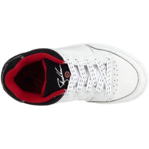 Etnies - Zapatillas de skateboarding de cuero nobuck para niños Blanco