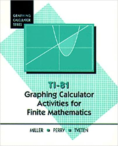 Ti-81 Graphing Calculator Activities for Finite Mathematics
