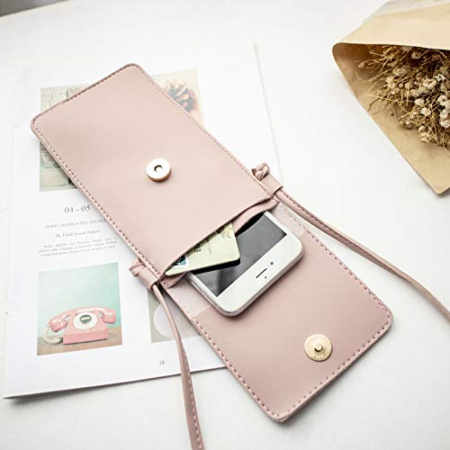 Hollow Bag Phone Texture NYKKOLA Handbag Wallet Womens with Beige body Cell Mini Purse Cross Leather Coin Strap Bag Shoulder xaBwAxO