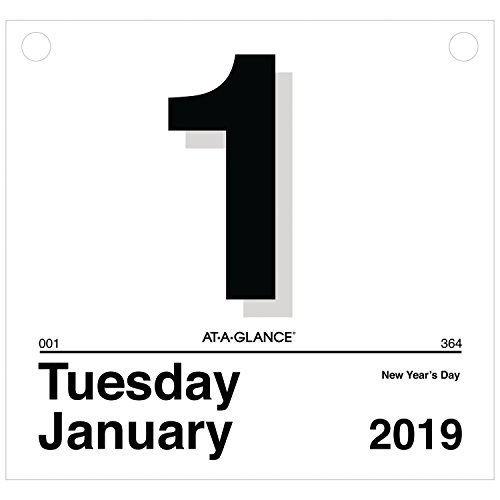 AT-A-GLANCE 2019 Daily Wall Calendar Refill, 8-1/2