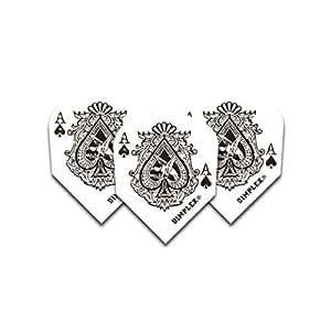 Harrows Ace of Spades - Lote de plumillas para dardos (12 unidades), diseño del as de picas