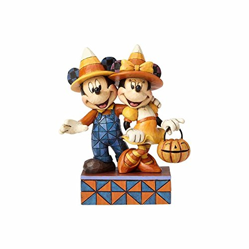 Enesco Jim Shore Disney Traditions Mickey Minnie Mouse Halloween Stone Resin Figurine ()