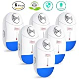 REPEL PRO Pest Control Ultrasonic Repeller [2018 Upgraded] Repellent/Reject Electronic Night Light Indoor Plug-in Home Anti Mosquito Insect Mouse Bugs Eco-Friendly Mice Spider (6 Pack)