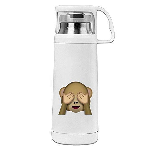 Emoji Mokey Shy Fae Stainless Steel Insulated With Lid Cup Thermos Cup (San Crate & Barrel Diego)
