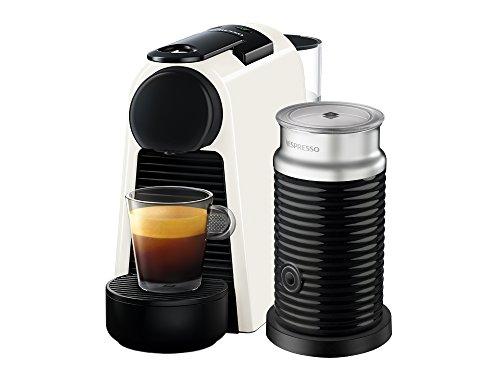 Cafetera Nespresso Essenza Mini con Aeroccino, Pure White