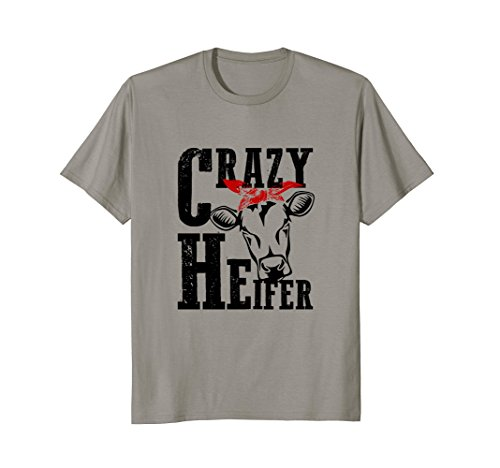 (Women's Crazy Heifer with Bandana Red Tshirt for Mom)