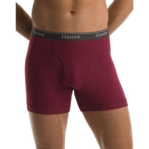 V-neck Boxers Cotton - Hanes Premium Cotton Stretch Boxer Briefs - 5 Pack (76925A) XL/Assorted