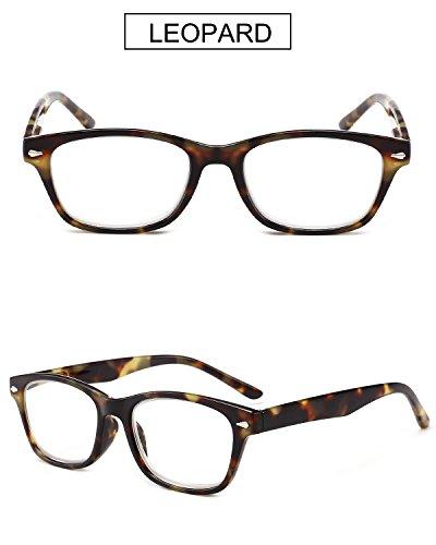de Rectangulares Mujer 0 Resorte Leer Gafas Lectura Vista 3 Graduadas Carey 2 Grande 3 Retro 0 1 Azul Turquesa 5 con 5 Leopardo 1 Bisagras Hombre Leopardo 2 0 4 VEVESMUNDO de 0 5 Presbicia nCX50Oqwq