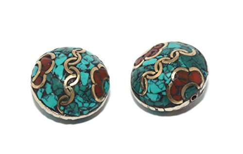 Tibet Silver Coral Bead - Turquoise Beads Coral Beads Tibetan Beads