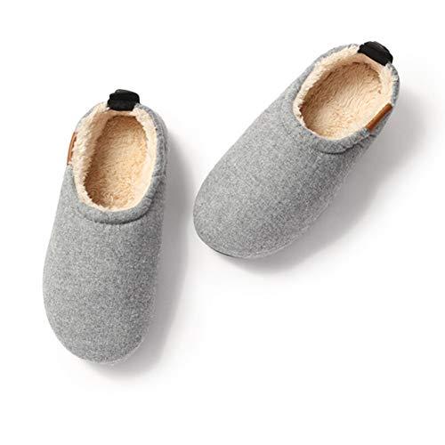 Claro Gris Antideslizantes Invierno Zapatilla Bolsa Fenping Casa Pantuflas Algodón Interior Con Slippers Zapatillas Fondo Grueso Suave De awYddzZx