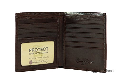 Osgoode Mens Wallet (Osgoode Marley Sienna Collection ID Hipster Mens RFID Leather Wallet (Chocolate))