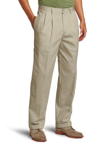 - IZOD Men's American Chino Pleated Pant, Khaki, 35W x 32L