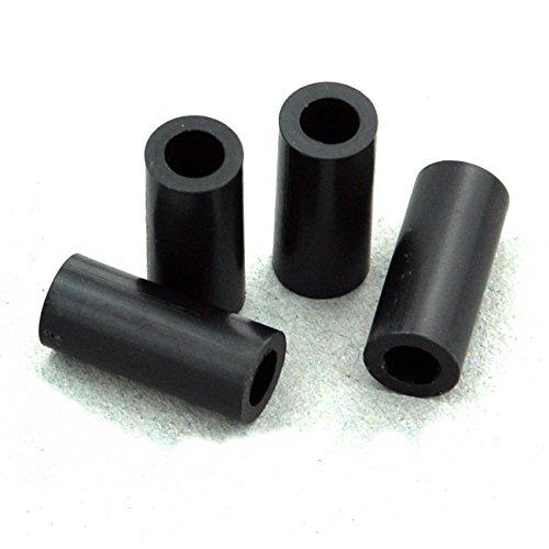 ID 4.1mm Electronics-Salon 100pcs 15mm Black Nylon Round Spacer Plastic. for M4 Screws OD 7mm