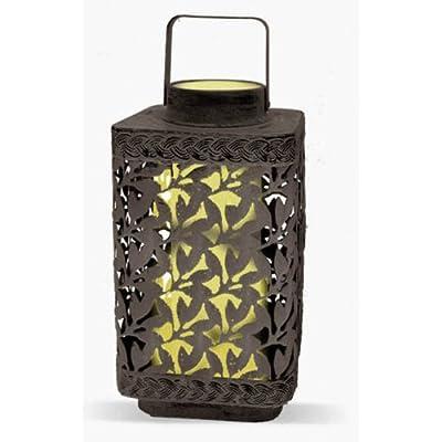Garden Meadow R1373SW Solar Lear Cluster Lantern with White Light, 10-Inch