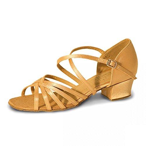 Roch Valley X-Strap Ballroom Shoe - BELLA Flesh Satin