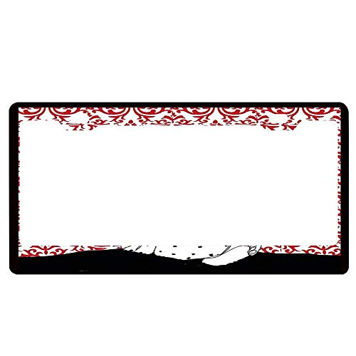 HFEUWgkfelsnsaf It Takes Two to Tango! Universal License Plate Frame, Aluminum Metal License Plate Frame for US Standard Car License