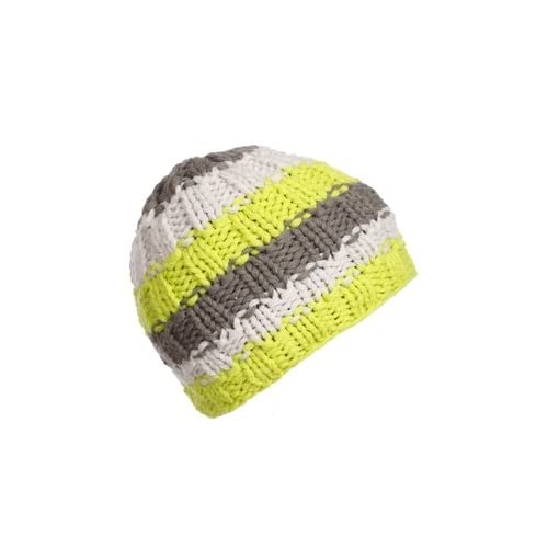 discount Jupa Boy's Stripe Beanie Lime Punch One Size