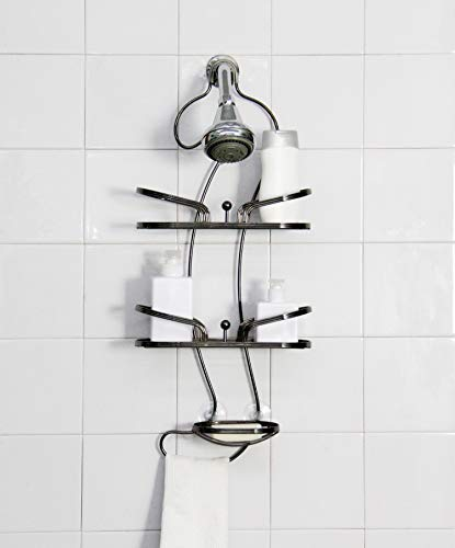 Inspired Living Shelf Organizer Rack shower-caddies, Onyx Swan, BLACK