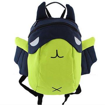 2016 Children 3D Cartoon Canvas Backpack Kids Waterproof Zipper Bag Fashion Schoolbag -Bags & Shoes School Bags - (Green) - 1 X Children Backpack