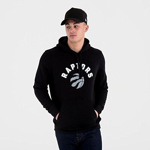 Toronto Era Team Logo Hoodie New Negro Nba Raptors ZqwSwa