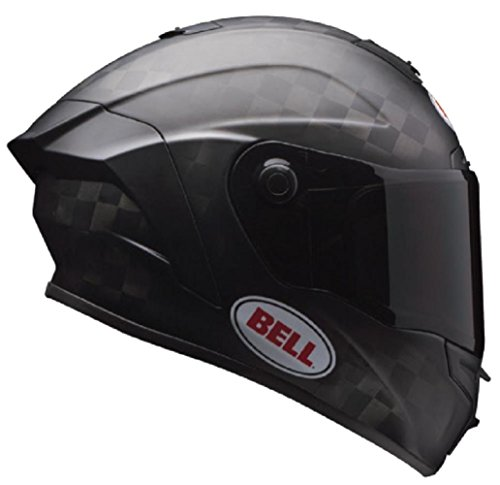 Bell Pro Star Unisex-Adult Full Face Street Helmet (Solid Matte Black, Large) (D.O.T.-Certified) - Motorcycle Helmet Solid Edge