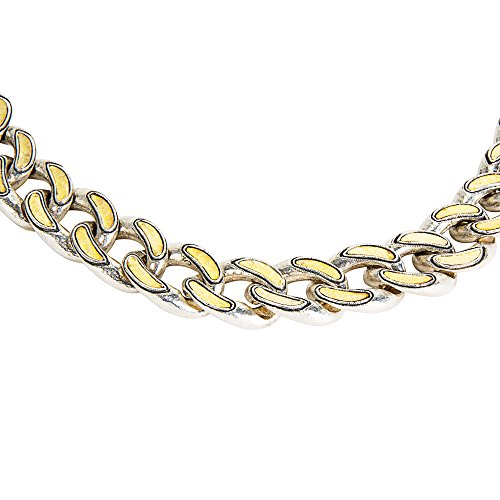 BRAND NEW Gurhan Ottoman Link Necklace in Sterling Silver & 24K Yellow Gold (Gurhan Yellow Necklace)