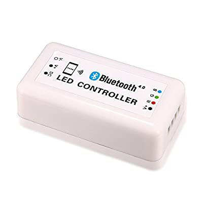 OneCreation 12V Wireless Bluetooth Led Controller for RGB Led Light & Led Strip, Support Bluetooth Version 4.0 ,Smart Phone Controlled (Apple iPhone, iPad, iWatch, Andriod Phone & Tablet)