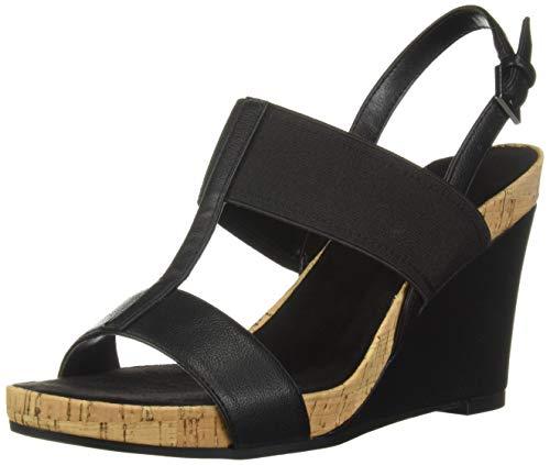 (Aerosoles Women's Plush Behind Sandal, Black, 7.5 M US)