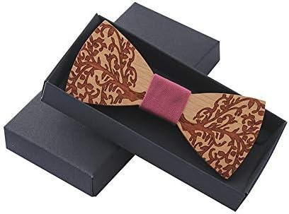 Corbata de lazo de madera para hombre Pajarita de Bowtie for ...