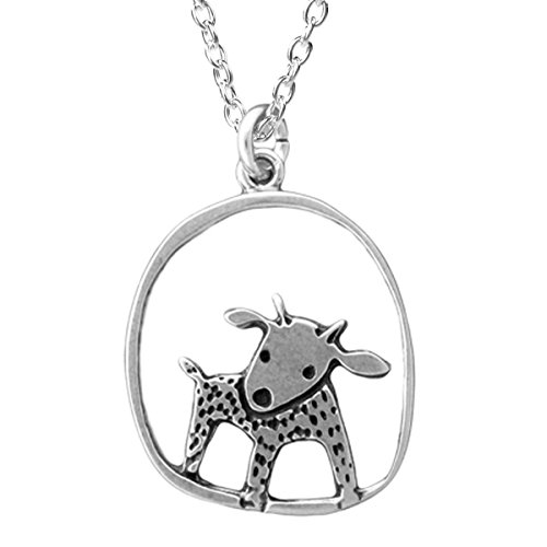 Sterling Silver Goat Necklace on 18