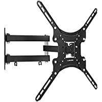 Lunvon TV Wall Mount for Most 13 15 17 20 22 23 24 27 30 32 38 40 42 45 48 50 LED TVs & Screen Monitors Up to 66 LBS, Max VESA 400X400 with Full Motion Articulating Arm & Bubble Level