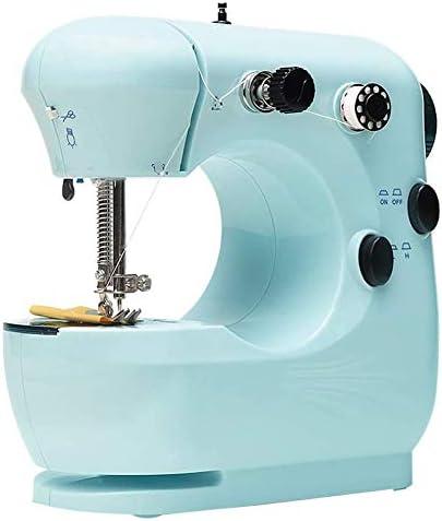Mini Máquina de coser eléctrica portátil del hogar Máquina de coser para principiantes Sastres de brazo libre de la reparación de la máquina de artesanía