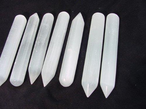 6 -7 Inch Selenite Massage Wand, Reiki, Chakra, Crystal Healing