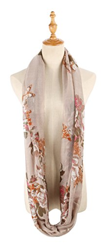 Infinity Scarfs for Women Loop Circle Fashion Scarf Floral Print Lightweight Scarves by RIIQIICHY (Image #1)'