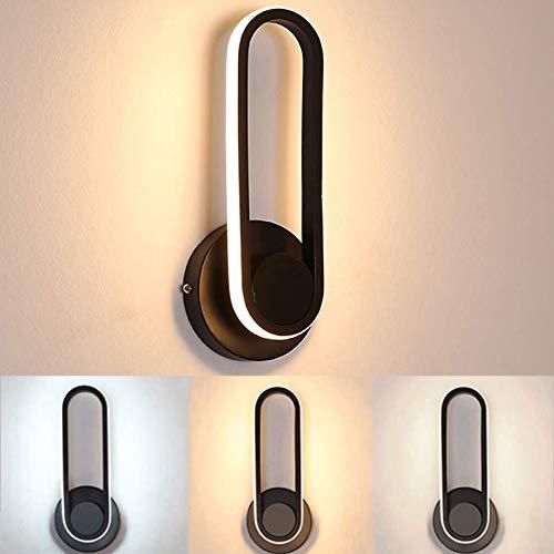 Wandlamp voor binnen, led, wandlamp, dimbaar, 12 W, moderne wandlamp, voor slaapkamer, huis, hal, woonkamer, 30 × 12 × 9…