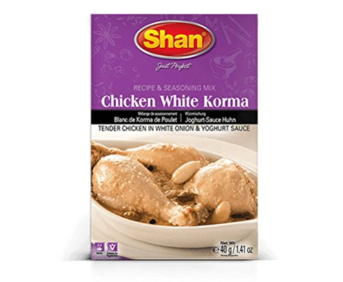 Shan Chicken White Korma Recipe & Seasoning Mix, 40 Grams (Pack of 6)