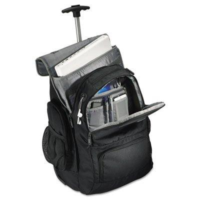 Rolling Backpack, 14 x 8 x 21, Black/Charcoal