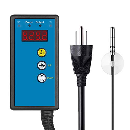 CDMALL Digital Heat Mat Thermostat Temperature Controller 68-108 ºF for Seed Germination, Reptiles,Rooting, Fermentation and Brewing