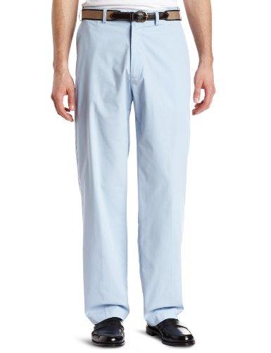Belt Belted Poplin - Haggar Mens Haggar Comfort Belted Poplin Plain Front Pant,Sky,40/29