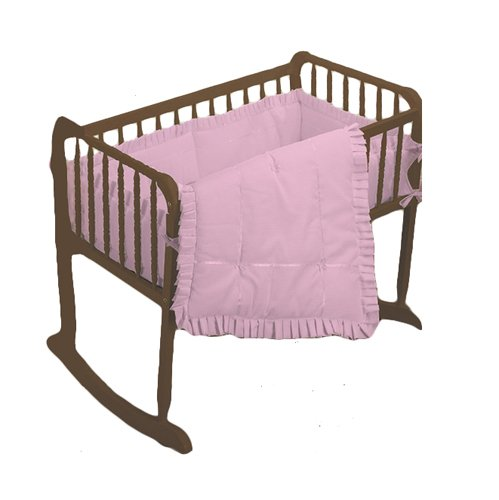 bkb Simplicity Cradle Bedding with Extra Sheet, Pink, 18'' x 36'' by bkb