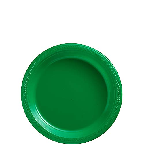 (Big Party Pack Festive Green Plastic Plates | 7