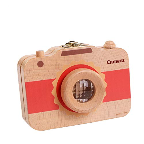 VT BigHome children wood camera toy tooth preservation box kaleidoscope toy baby lanugo preservation record kids growth collectible gift by VT BigHome