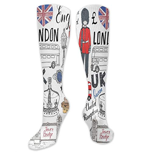 Wushidh83 Love London Bus Telephone Booth Cab Men's/Women's Sensitive Feet Wide Fit Crew Socks and Cotton Crew Athletic Sock ()