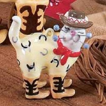 Christmas Mini Cat Ornament (Whimsiclay Mini Christmas Cat Ornament - Tex)