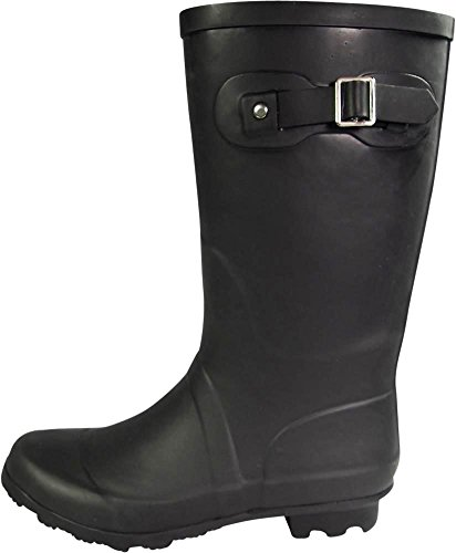 NORTY - Womens Hurricane Wellie Solid Matte Mid-Calf Rain Boot, Matte Black 39967-7B(M) US by NORTY (Image #1)