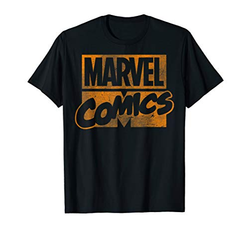 (Marvel Classic Comics Stack Logo Tonal Orange T-Shirt)