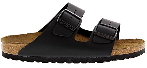 Birkenstock Women's Classic Cork Footbed Arizona 2-Strap Sandal In Natural Leather, Smooth Black Natural Leather' (37 M EU/6-6.5 B(M) US Women) by Birkenstock (Image #6)
