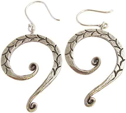 ThaiJewelry WEIGHT 13.5 G BEAUTIFUL THAI KAREAN HILL TRIBE SILVER CIRCLE EARRING SIZE 40 x 40 MM BY HAND MADE