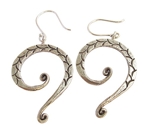 ThaiJewelry APPOX 5.25 G. BEAUTIFUL THAI KAREAN HILL TRIBE SILVER EARRING SIZE 30 x 50 MM BY HAND -